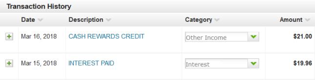 USAA Interest and Cash Back Rewards
