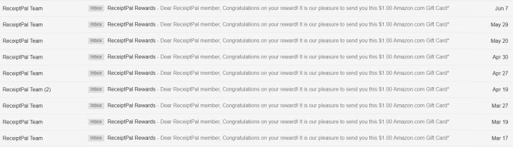 Receipt Pal All Rewards